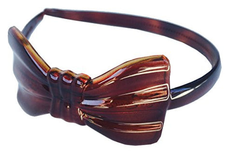 Parcelona French Bow Brown Tortoise Shell Celluloid Acetate Flexible Headband-ebuyfashion.com-ebuyfashion.com