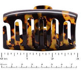 French Amie Tubular Wide Tokyo Handmade Celluloid Jaw Hair Claw Clip