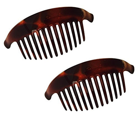 Parcelona French Alice Large Tortoise Sell Brown 13 Teeth Interlocking Side Comb-ebuyfashion.com-ebuyfashion.com