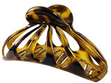 Parcelona French Rain Drop Large Savana Celluloid Jaw Hair Claw Clip Clamp