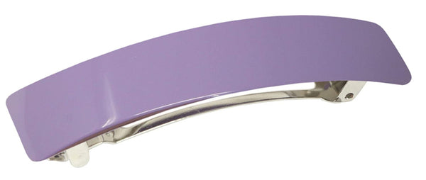 "French Amie Oblong Light Purple Large 3.5"" Handmade Celluloid Hair Clip Barrette"