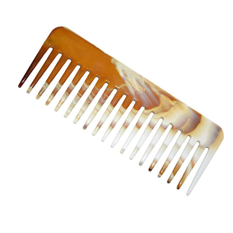 Parcelona French Fluffy Brown Ivory Large Wide Tooth Hair Detangling Combs