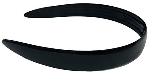 Parcelona French Wide Black Celluloid Acetate Flexible Hair Head Band Headband