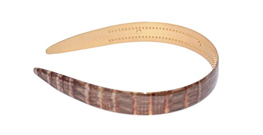 Parcelona French Strata Maroon Red Golden Brown Wide Hair Headband