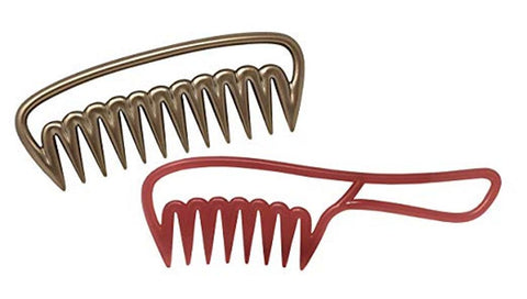 Parcelona Golden Brown Pink Salon Long Teeth Celluloid Acetate Hair Combs