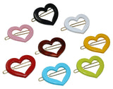 "Parcelona French Love Hearts Small 1 1/4"" Set of 8 Hair Clip Barrettes"