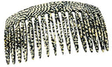 French Amie Opera Handmade Medium 16 Teeth Celluloid Acetate Side Hair Comb