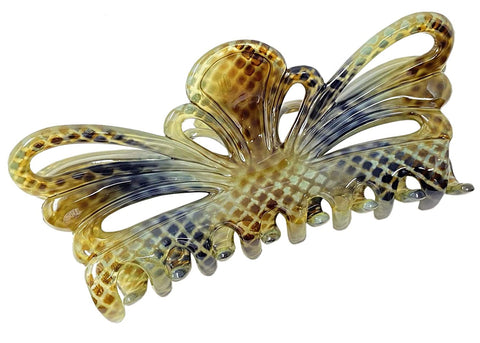 Parcelona French Tropical Butterfly Python Finish Extra Large Hair Claw Clip