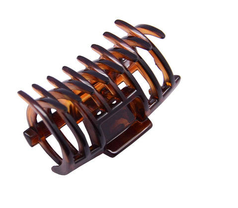 Parcelona French Tube Tortoise Shell Small No Slip Grip Jaw Hair Claw Clip