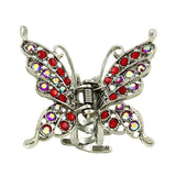 Moeni Medium Rhinestone Butterfly Hair Claw - Many Colors