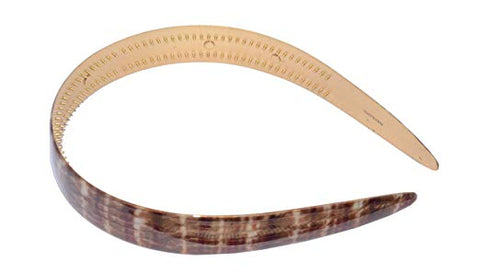Parcelona French Strata Maroon Red Golden Brown Celluloid Acetate Wide Hair Headband