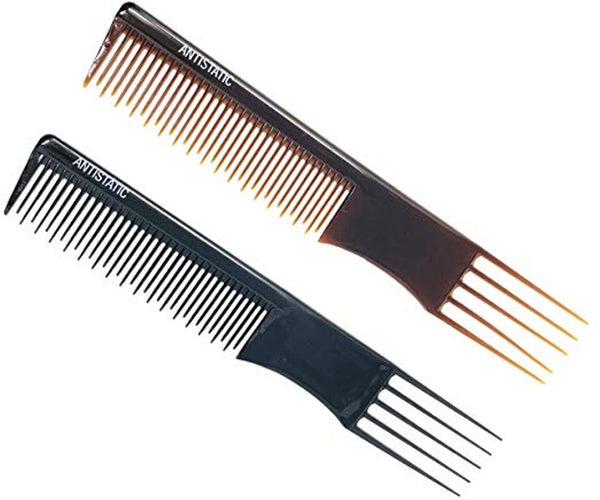 Parcelona French Professional Salon Shell N Black Celluloid Anti static Combs