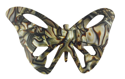 French Amie Paris Butterfly Onyx Large Handmade Celluloid Hair Clip Barrette-French Amie-ebuyfashion.com
