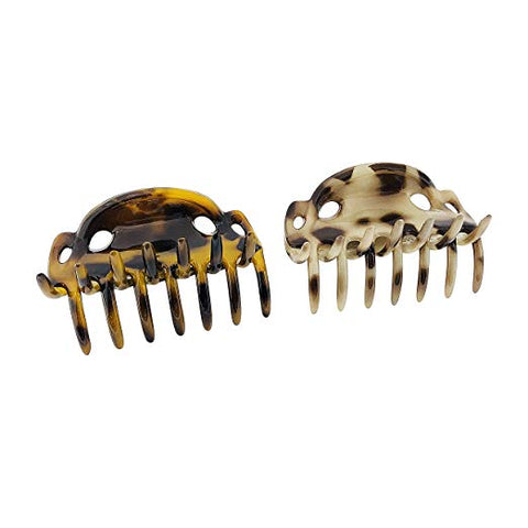 Parcelona French Alien Small Tokyo Shell and Savana Hair Claw Clip