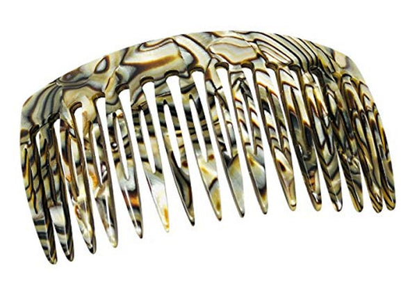 French Amie Onyx Handmade Medium 16 Teeth Celluloid Side Hair Comb
