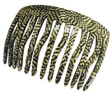 French Amie Fab Handmade Medium Opera Celluloid 13 Teeth Side Hair Comb-FRENCH AMIE-ebuyfashion.com