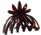 Parcelona France Flower Wide Shell Covered Spring Celluloid Hair Claw Clip-ebuyfashion.com-ebuyfashion.com