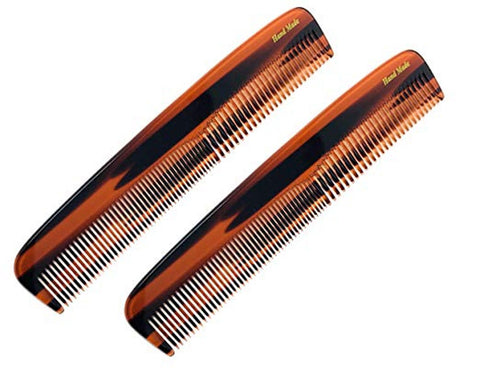French Amie Sleek Handmade shell 7 Inch Long Celluloid Hair Dressing Combs