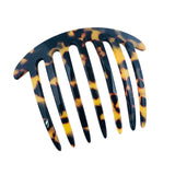 French Amie Handmade Tokyo Celluloid Acetate 7 Teeth Side Hair Comb