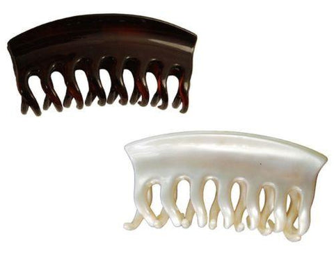 Parcelona France Arch Medium Tortoise Shell And Cream Ivory Jaw Hair Claw-Parcelona-ebuyfashion.com