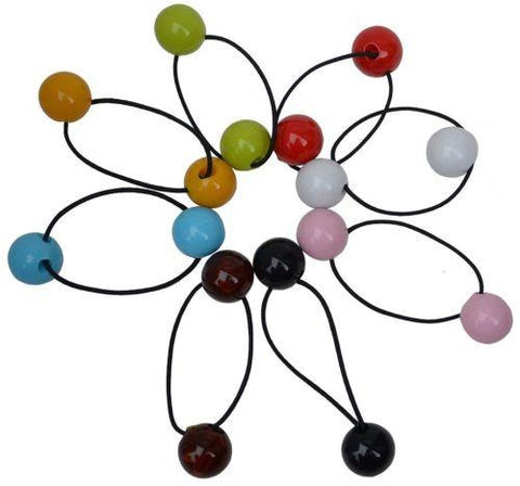 Parcelona France BOULI Ball Ponytail Holder Elastic Hair Tie Scrunchie Bands-PARCELONA-ebuyfashion.com