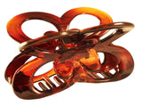 Parcelona France Butterfly Medium Shell Covered Spring Celluloid Hair Claw Clip-PARCELONA-ebuyfashion.com