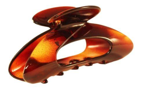 Parcelona France Ovale Medium 3.5 Inches Covered Spring Celluloid Hair Claw Clip-PARCELONA-ebuyfashion.com