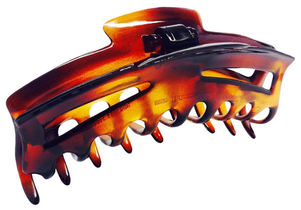 Parcelona French Bend Narrow Medium Celluloid Tortoise Shell Jaw Hair Claw Clip-PARCELONA-ebuyfashion.com