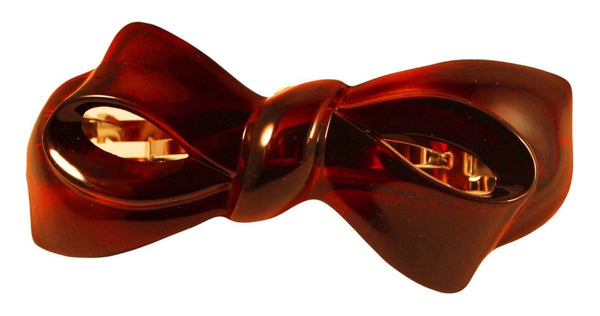 Parcelona French Bow Medium Inches Celluloid Tortoise Shell Hair Clip Barrette-PARCELONA-ebuyfashion.com