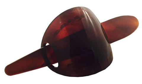 Parcelona French Classic Brown Celluloid Hair Slider Bun Cover Clip with Stick-PARCELONA-ebuyfashion.com