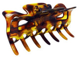 Parcelona French Classic Savana Light Shell Tokyo Style Jaw Claw Hair Clip-Parcelona-ebuyfashion.com