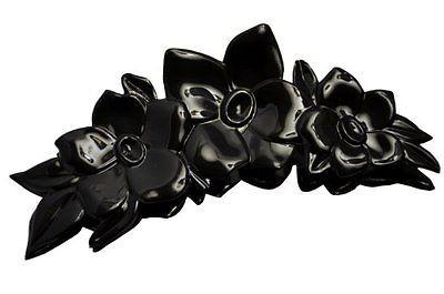 Parcelona French Clementine Black Celluloid Claw Jaw Hair Claw Clip-PARCELONA-ebuyfashion.com