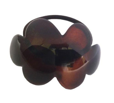 Parcelona French Cloud Tortoise Shell Celluloid Elastic Ponytail Holder Hair Tie-Parcelona-ebuyfashion.com