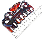 Parcelona French Double Loop Large Shell Claw Clip Clamp Clutcher 4.25 Inches-Parcelona-ebuyfashion.com