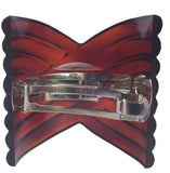 Parcelona French Interwined Brown Shell Celluloid Pony Hair Clip Barrette-Parcelona-ebuyfashion.com