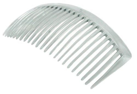 Parcelona French Large Clear 23 Teeth Celluloid Hair Side Combs 4.5 Inch-PARCELONA-ebuyfashion.com