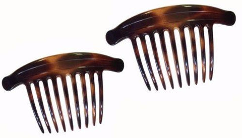 Parcelona French Lip Interlocking Large 9 Teeth Cellulose Shell Side Hair Combs-PARCELONA-ebuyfashion.com