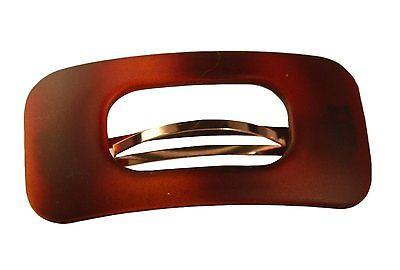 Parcelona French Medium Retro Oblong Matte Finish Shell Hair Clip Barrette-PARCELONA-ebuyfashion.com