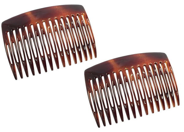 Parcelona French Nice N Simple Shell 2 Pieces Cellulose Side Hair Comb Combs-Parcelona-ebuyfashion.com