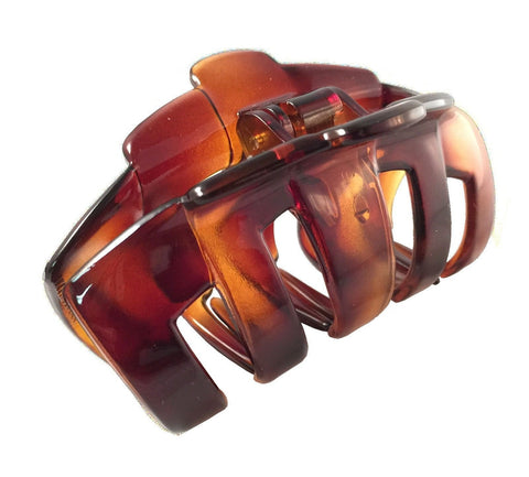 Parcelona French Tubular Shell Large Covered Spring Jaw Hair Claw Clip Clutcher-PARCELONA-ebuyfashion.com
