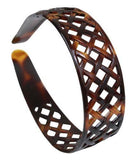 Parcelona French Weave Shell Light Non-Brittle Wide Celluloid Hair Headband-Parcelona-ebuyfashion.com