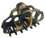 Parcelona Honey Comb Black Beige Celluloid Acetate Sturdy Jaw Hair Claw Clip-ebuyfashion.com-ebuyfashion.com