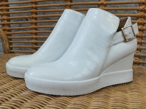 Crocodile Wedge Sneaker