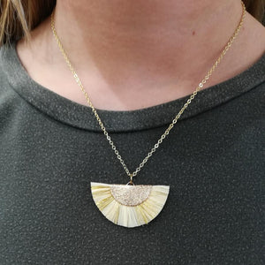 Gold Fan Necklace