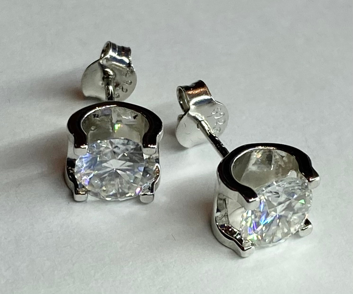 Bull Head Moisanite Stud Earrings