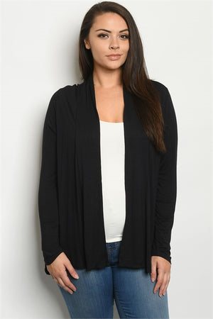 Black Cardigan Plus