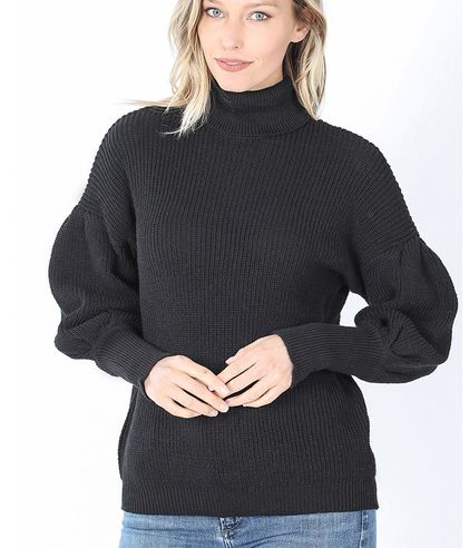 All Over It Turtleneck Sweater