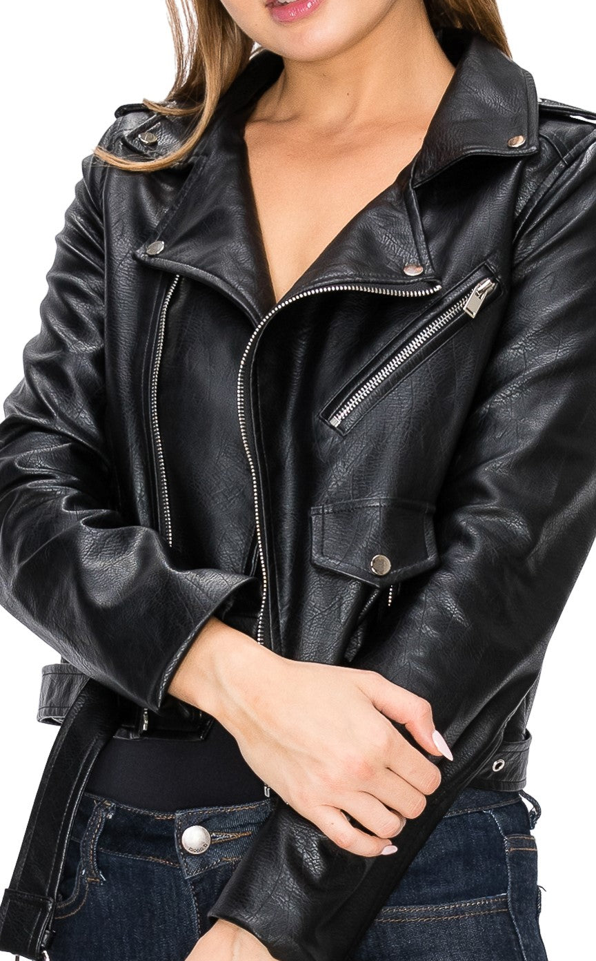 Vegan Leather Jacket