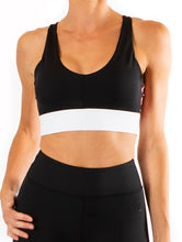 Miss Moto Crop Top - black with red check