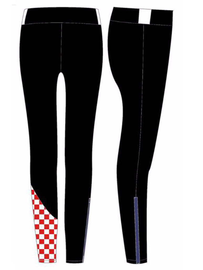 08b8fd2b6e7cc Miss Moto Tights - Black with red checks – We Are Found Active